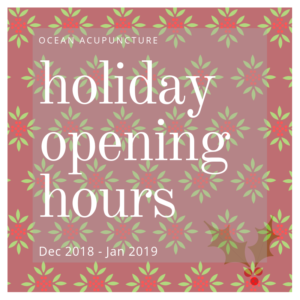 Holiday Hours 2018-19