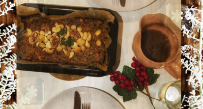 Christmas in July nut roast